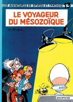 Couverture Spirou et Fantasio, tome 13 : Le Voyageur du mésozoïque