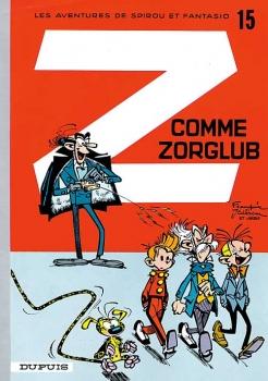 Couverture Spirou et Fantasio, tome 15 : Z comme Zorglub