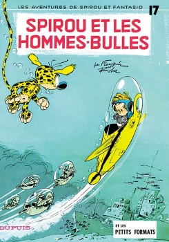 Couverture Spirou et Fantasio, tome 17 : Spirou et les hommes-bulles
