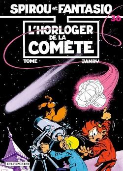 Couverture Spirou et Fantasio, tome 36 : L'Horloger de la comète