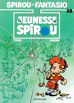 Couverture Spirou et Fantasio, tome 38 : La Jeunesse de Spirou