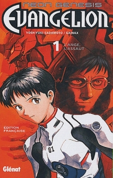 Couverture Neon Genesis Evangelion, tome 01 : L'ange, l'assaut