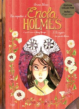 Couverture Les enquêtes d'Enola Holmes (BD), tome 3 : Le mystère des pavots blancs