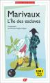 Couverture L'île des esclaves Editions Flammarion (GF) 2017