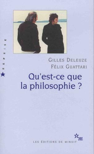 Couverture Qu'est-ce-que la philosophie ?