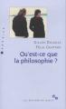 Couverture Qu'est-ce-que la philosophie ? Editions de Minuit 2019