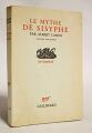 Couverture Le mythe de Sisyphe Editions Gallimard  (Essais) 1942
