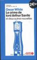 Couverture Le crime de Lord Arthur Savile Editions Ouest-France (La crème du crime ) 2008