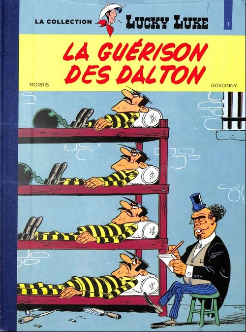 Couverture Lucky Luke, tome 44 : La Guérison des Dalton
