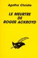 Couverture Le meurtre de Roger Ackroyd Editions Librairie des  Champs-Elysées  (Le masque) 1996