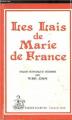 Couverture Lais / Les Lais Editions Honoré Champion 1982