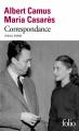 Couverture Correspondance : 1944-1959 Editions Folio  2020