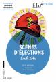 Couverture Scènes d'élections Editions Folio  (+ Collège) 2019