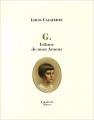 Couverture G., Isthme de mon Amour Editions Tarabuste (Chemins Fertiles) 2012