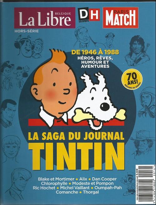 Couverture La saga du journal Tintin