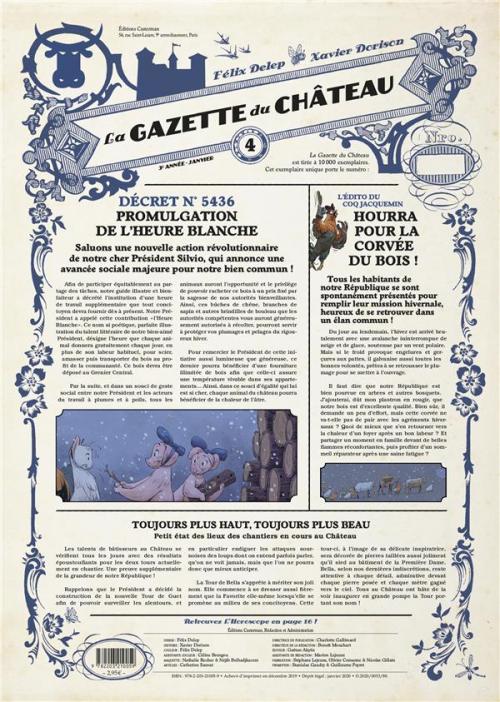 Couverture La gazette du château, tome 4