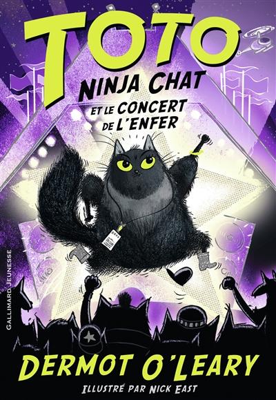 Couverture Toto Ninja Chat, tome 3 : Toto Ninja Chat et le concert de l'enfer