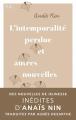 Couverture L'intemporalité perdue et autres nouvelles Editions NiL 2020