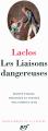 Couverture Les Liaisons dangereuses Editions Gallimard  (Bibliothèque de la pléiade) 2011
