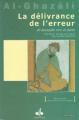 Couverture Délivrance de l'erreur (La) (Bilingue) Editions Albouraq 2019