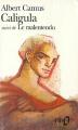 Couverture Caligula, suivi de Le Malentendu Editions Folio  1972