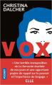 Couverture Vox Editions Pocket 2020