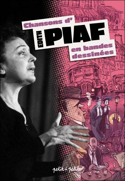 Couverture Chansons d'Edith Piaf en bandes dessinées