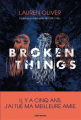 Couverture Broken Things Editions Albin Michel 2020