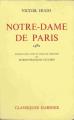 Couverture Notre-Dame de Paris Editions Garnier (Classiques) 1961