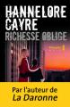 Couverture Richesse oblige  Editions Métailié 2020