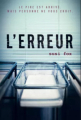 Couverture L'erreur Editions France Loisirs 2019