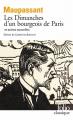 Couverture Les Dimanches d'un bourgeois de Paris et autres nouvelles Editions Folio  (Classique) 2020