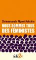Couverture Nous sommes tous des féministes Editions Folio  (2 €) 2020