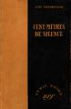 Couverture Cent mètres de silence Editions Gallimard  (Série noire) 1950