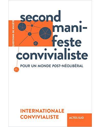 Couverture Second manifeste convivialiste