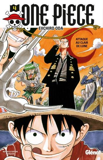 Couverture One Piece, tome 004 : Un chemin en pente raide / Attaque au clair de Lune