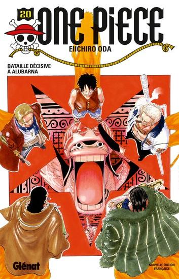 Couverture One Piece, tome 20 : Bataille décisive à Alubarna