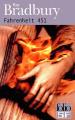 Couverture Fahrenheit 451 Editions Folio  2000