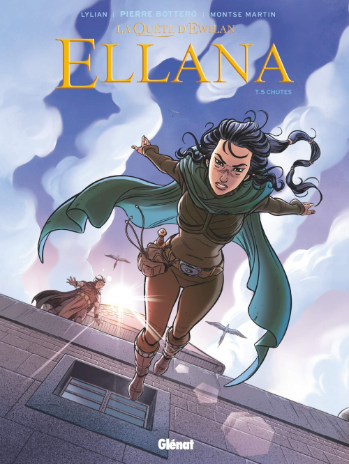 Couverture La quête d'Ewilan : Ellana, tome 5 : Chutes