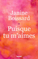 Couverture Puisque tu m'aimes  Editions Fayard (Littérature française) 2020