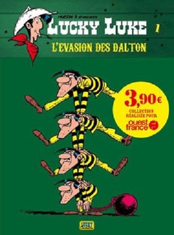 Couverture Lucky Luke, tome 15 : L'Évasion des Dalton