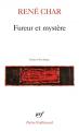 Couverture Fureur et mystère Editions Gallimard  (Poésie) 2019