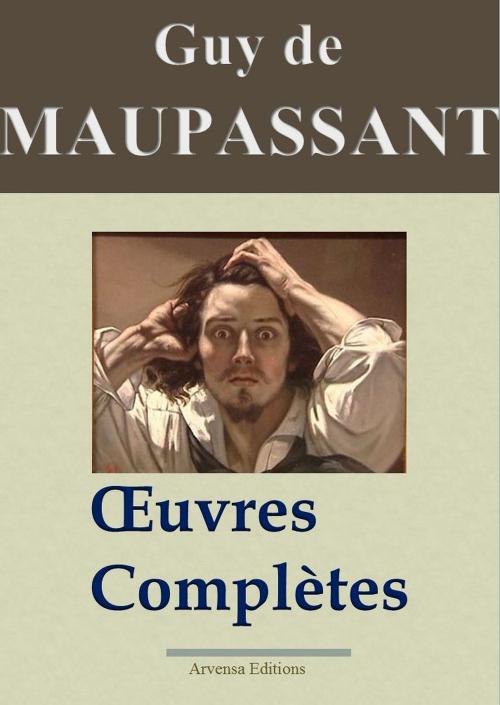Couverture Maupassant : Oeuvres complètes - 67 titres (Annotés et illustrés)
