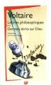 Couverture Lettres philosophiques, Derniers écrits sur Dieu Editions Flammarion (GF) 2006