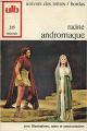 Couverture Andromaque Editions Bordas (Univers des lettres) 1973