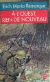 Couverture À l'ouest, rien de nouveau Editions Le Livre de Poche 1995