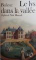 Couverture Le lys dans la vallée Editions Folio  1982