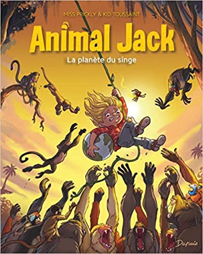 Couverture Animal Jack, tome 3 : La planète du singe