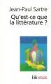 Couverture Qu'est-ce que la littérature ? Editions Folio  (Essais) 2017