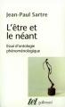 Couverture L'être et le néant Editions Gallimard  (Tel) 2017